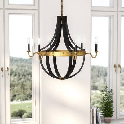 La Sarre 3 Light Globe Chandeliers Regarding Well Liked Karteek 6 Light Led Empire Chandelier (View 15 of 25)