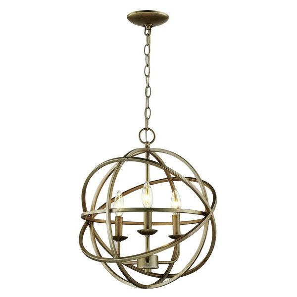 La Sarre 3 Light Globe Chandeliers With Regard To Popular Baitz 3 Light Globe Chandelier (View 16 of 25)