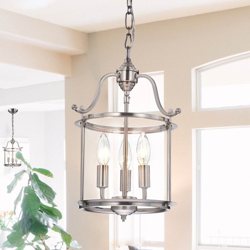 Labarge 3 Light Lantern Cylinder Pendant Inside Most Up To Date 3 Light Lantern Cylinder Pendants (View 8 of 25)