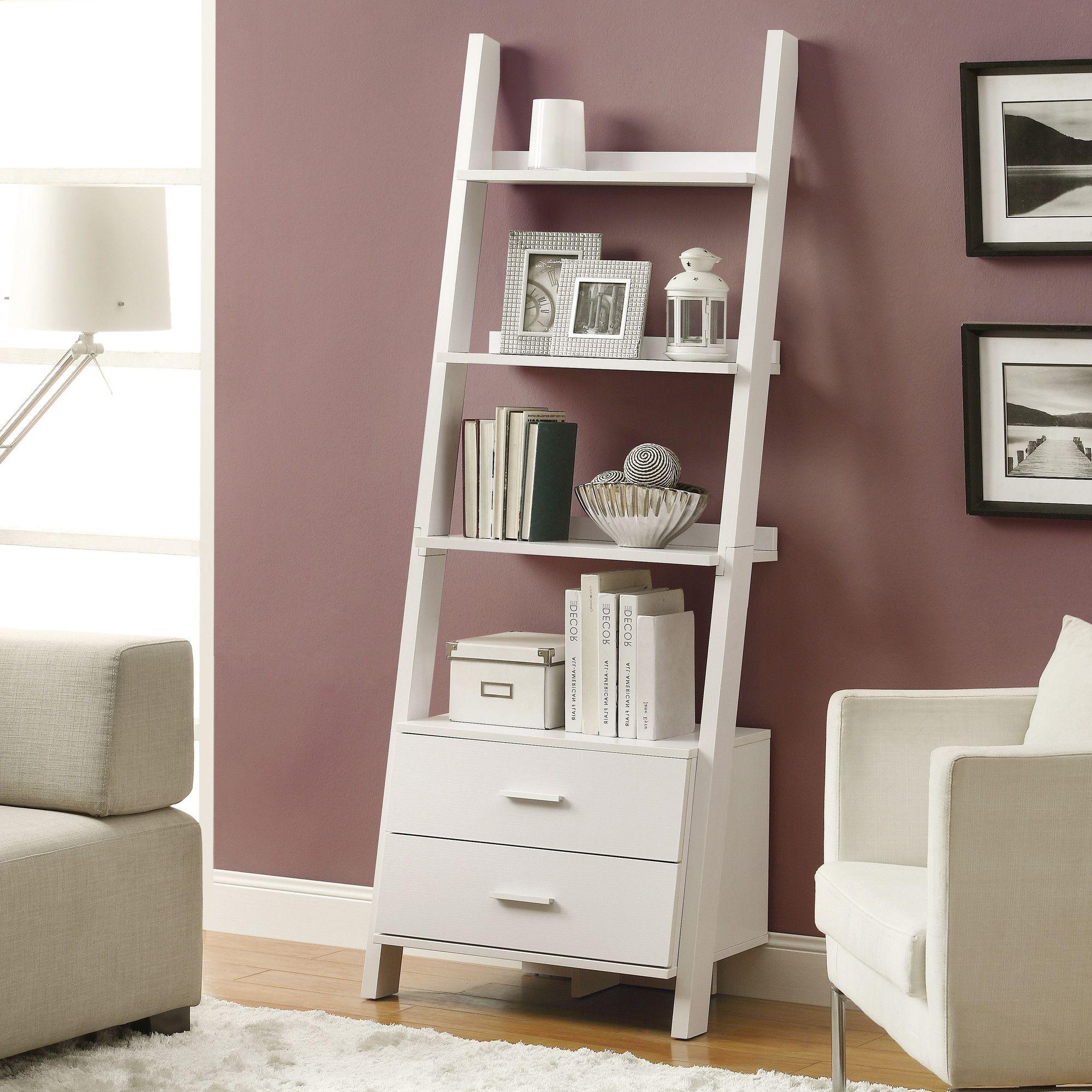 Ladder Bookshelf Intended For Antoninus Ladder Bookcases (View 3 of 20)