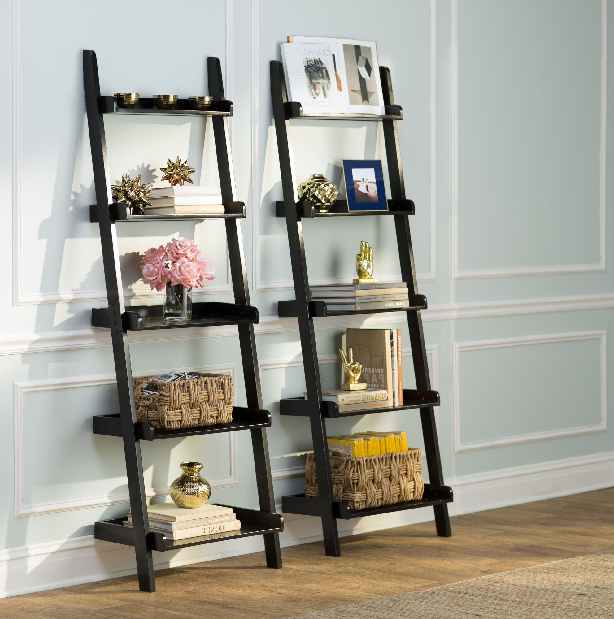 Ladder Shelf Decor Inside Preferred Rupert Ladder Bookcases (View 8 of 20)