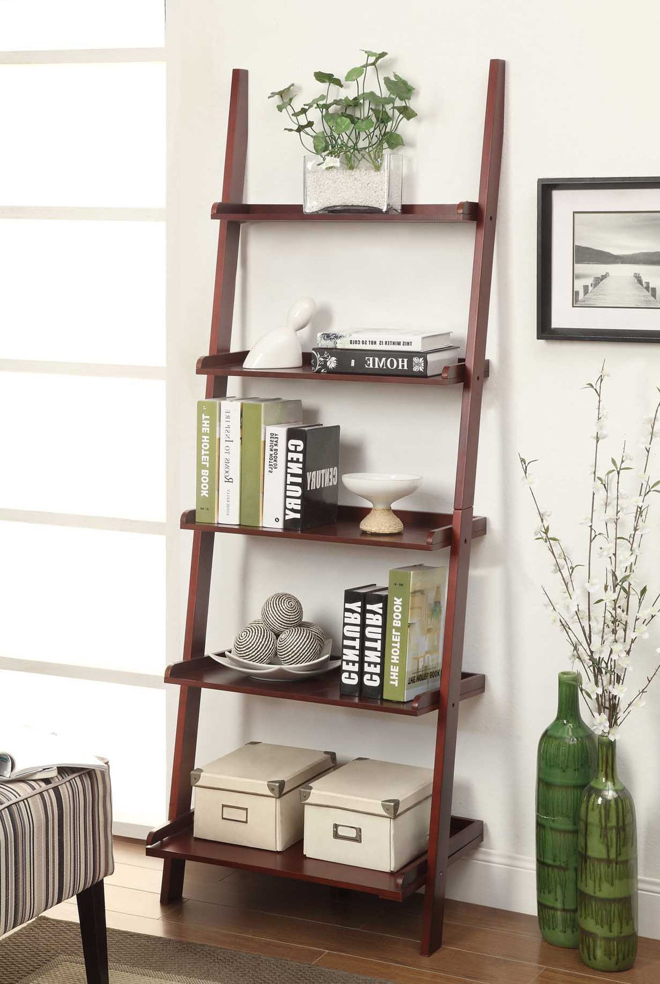 Ladder Shelf Decor Living For Preferred Dunhill Ladder Bookcases (View 13 of 20)