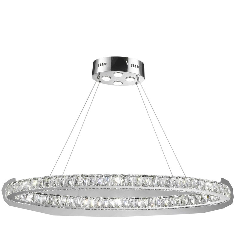 Ladonna 5 Light Novelty Chandeliers Throughout Most Up To Date Leiter 20 Light Led Crystal Chandelier (View 14 of 25)