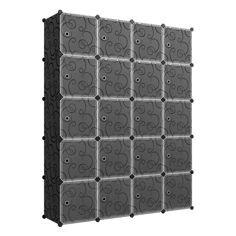 Lancashire Cube Bookcases Regarding Well Known Kousi Cube Storage Cube Organizer Cube Storage Shelves Cubby Organizing Closet Storage Organizer Cabinet Shelving Bookshelf Toy Organizer (Black, (View 13 of 20)