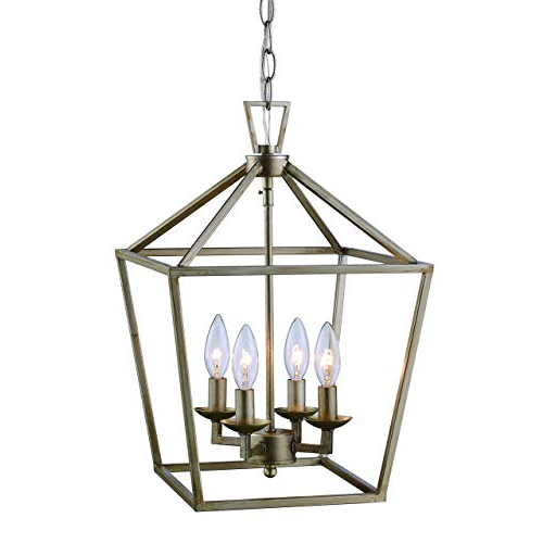 Lantern Pendant Light: Amazon Throughout Well Known Taya 4 Light Lantern Square Pendants (View 9 of 25)