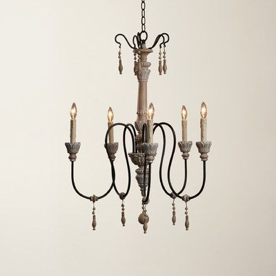 Lark Manor Corneau 5 Light Chandelier In (View 5 of 25)