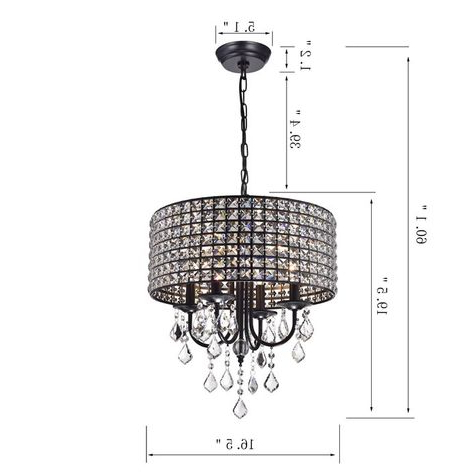 Latest Afaura 4 Light Crystal Chandelier In Mckamey 4 Light Crystal Chandeliers (View 25 of 25)