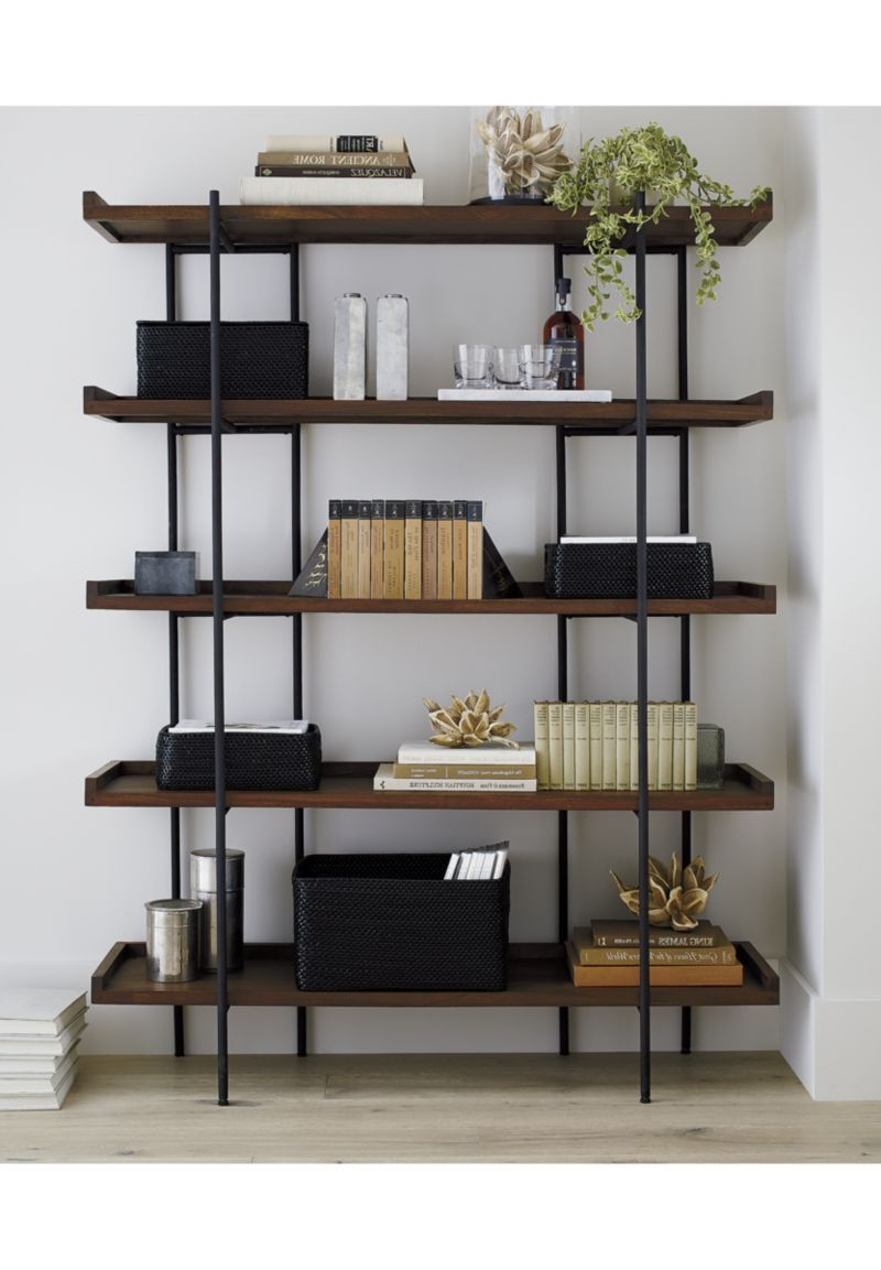 Latest Beckett Etagere Bookcases Within Beckett 5 High Shelf Sable (View 2 of 20)