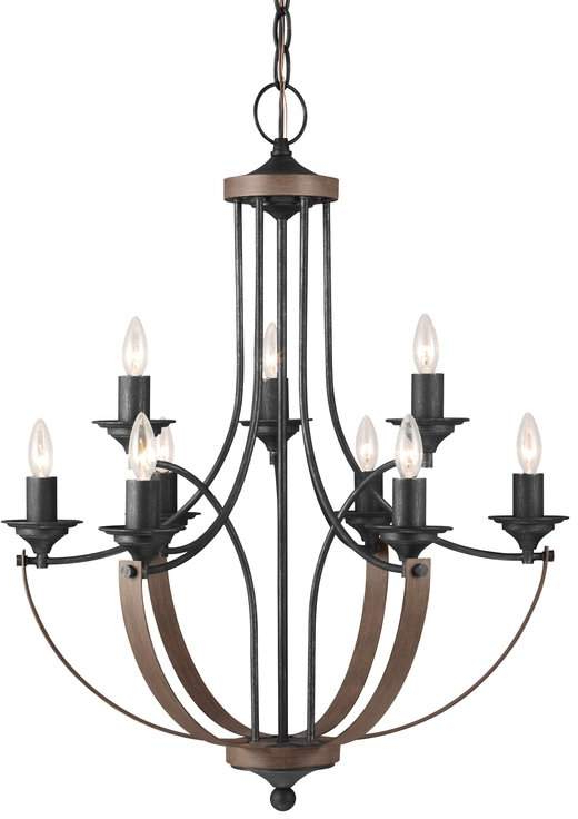 Latest Birch Lane Heritage Camilla 9 Light Candle Style Chandelier Regarding Camilla 9 Light Candle Style Chandeliers (View 15 of 25)