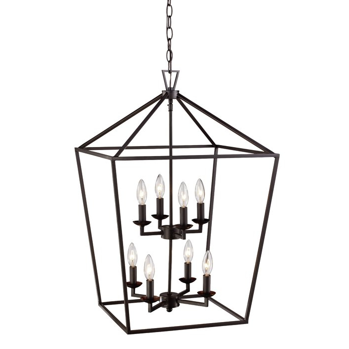 Featured Photo of Carmen 8 Light Lantern Geometric Pendants