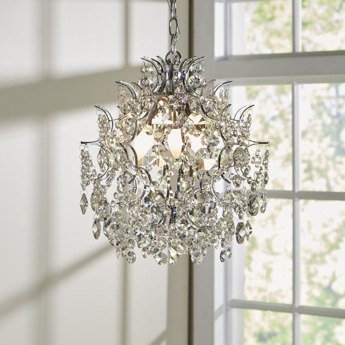 Latest Clea 3 Light Crystal Chandelier In (View 2 of 25)