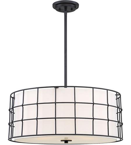 Latest Hayden 5 Light Shaded Chandeliers Intended For Hayden 5 Light 25 Inch Matte Black Pendant Ceiling Light (View 18 of 25)