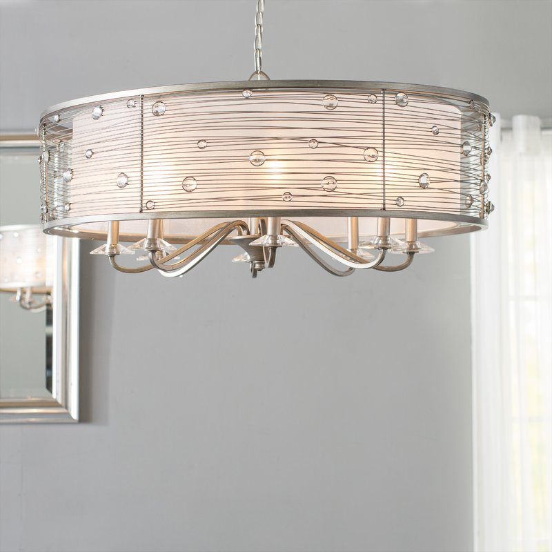 Latest Hermione 5 Light Drum Chandeliers Pertaining To Hermione 8 Light Drum Chandelier (View 10 of 25)