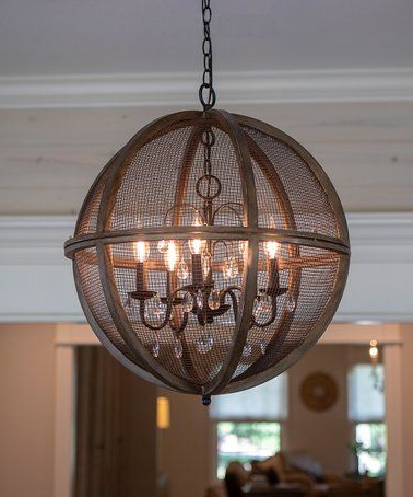 Latest Loving This Black Mesh Declan Orb Chandelier On #zulily With Regard To Filipe Globe Chandeliers (View 17 of 25)