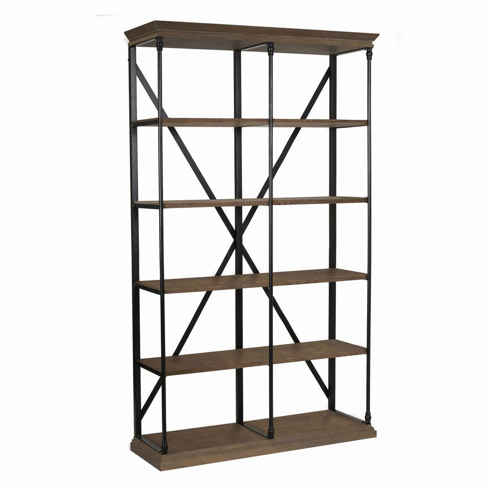 Latest Noble House Brown 5 Tier Etagere Shelf 295787 – The Home Depot For Blairs Etagere Bookcases (View 11 of 20)