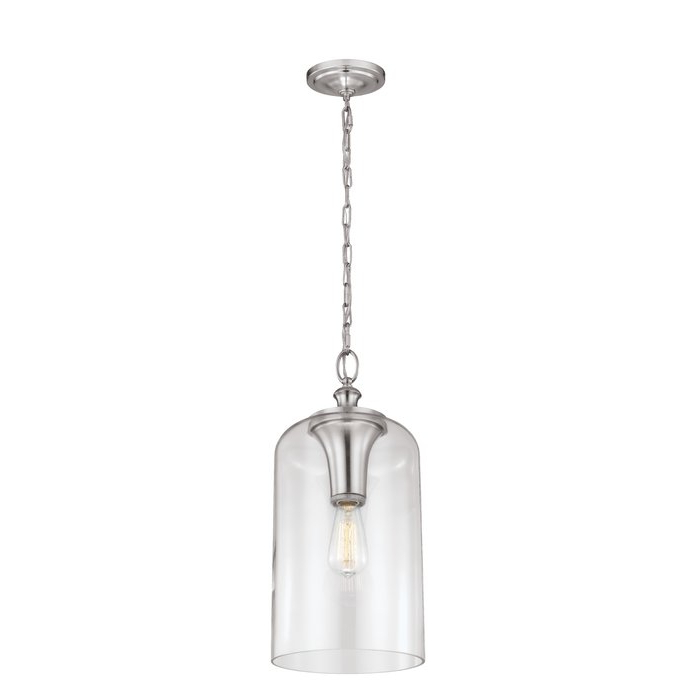 Latest Nolan 1 Light Lantern Chandeliers Pertaining To Nolan 1 Light Single Cylinder Pendant (View 8 of 25)