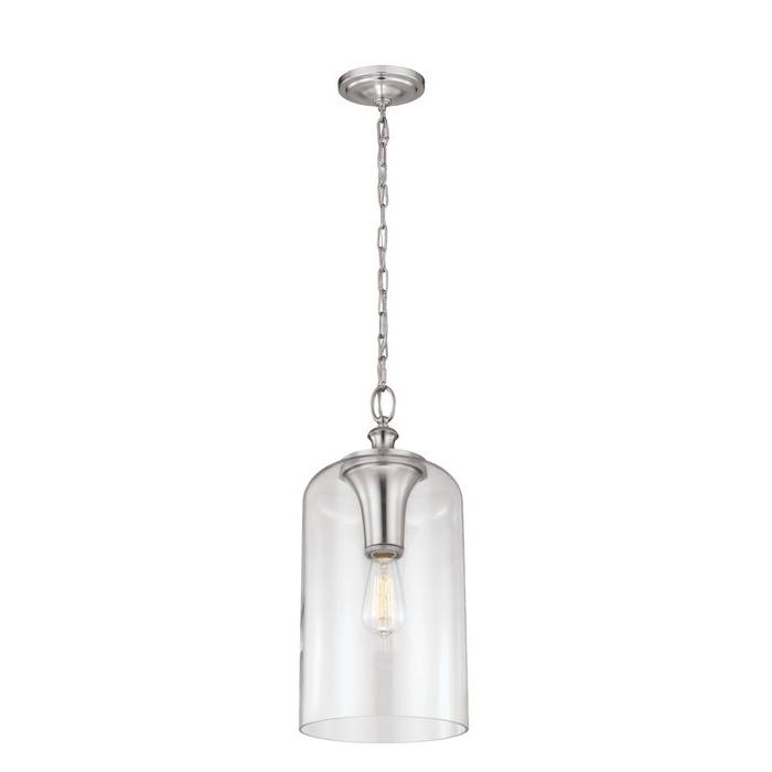 Latest Nolan 1 Light Lantern Chandeliers Pertaining To Nolan 1 Light Single Cylinder Pendant (View 8 of 25)