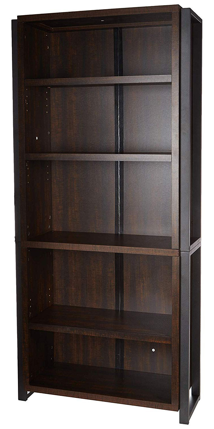 Latest Offex 5 Shelf Home And Office Decorative Bookcase Inside Decorative Standard Bookcases (View 15 of 20)