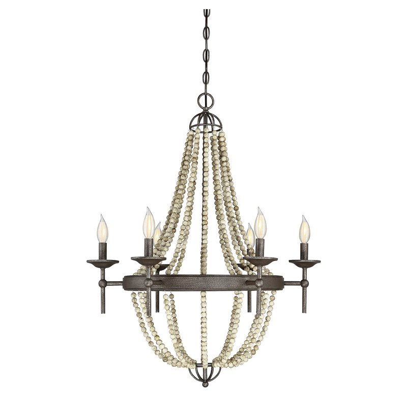 Latest Pennington 6 Light Empire Chandelier Within Phifer 6 Light Empire Chandeliers (View 10 of 25)