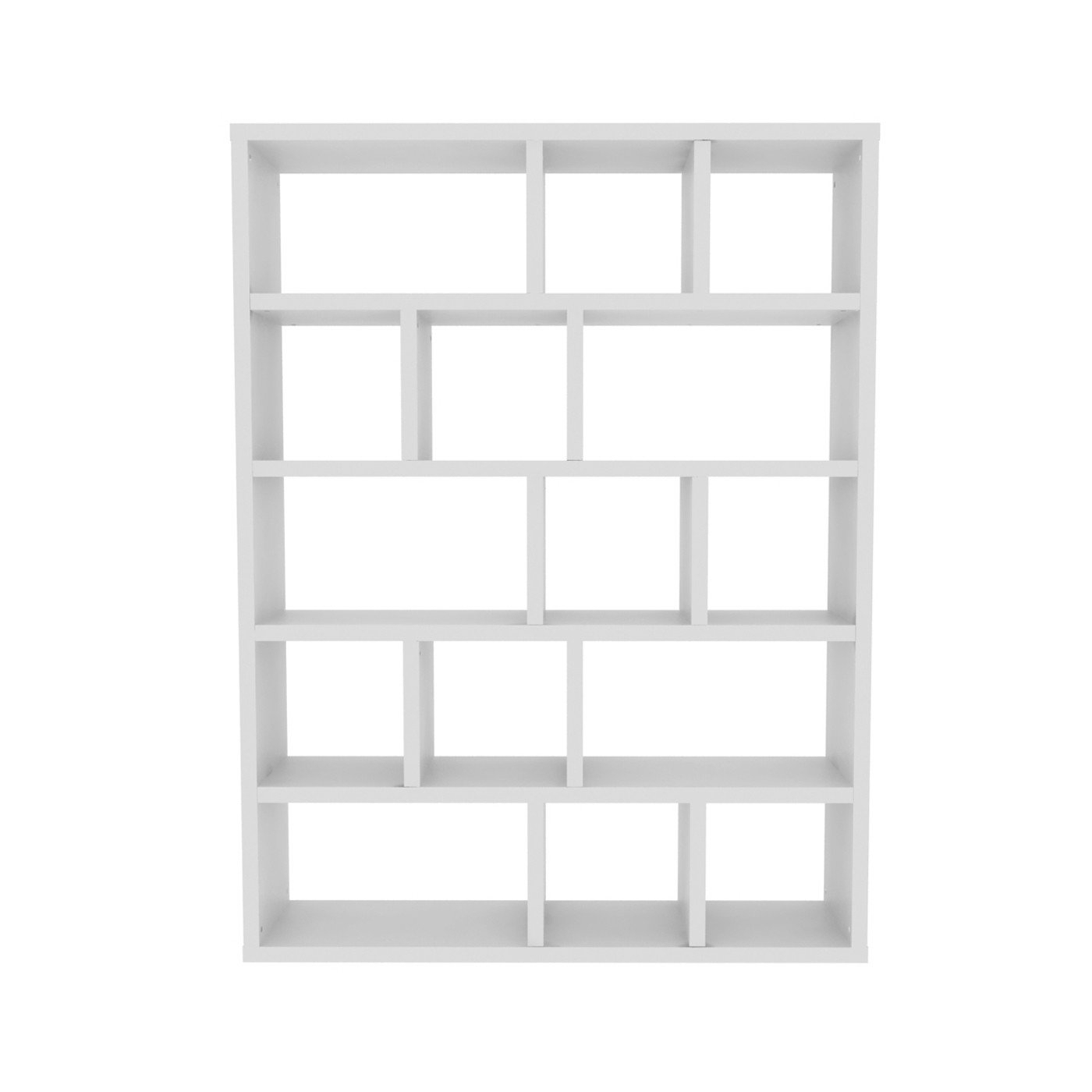 Latitude Run Varga 5 Level Geometric Bookcase For Trendy Swarey Geometric Bookcases (View 7 of 20)