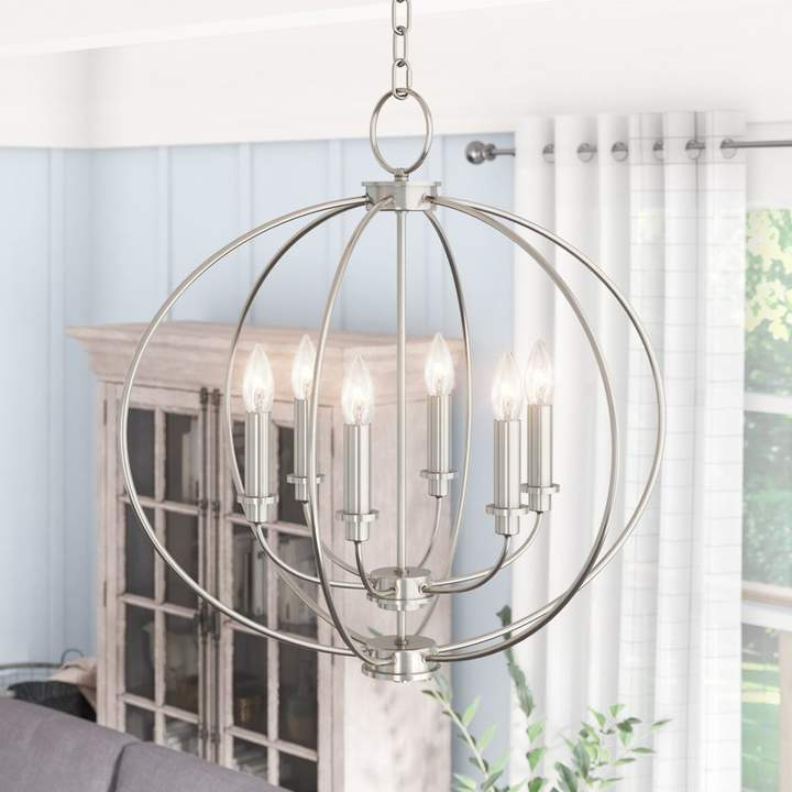 Laurel Foundry Modern Farmhouse Naomie 6 Light Chandelier Throughout Best And Newest Watford 6 Light Candle Style Chandeliers (View 4 of 25)