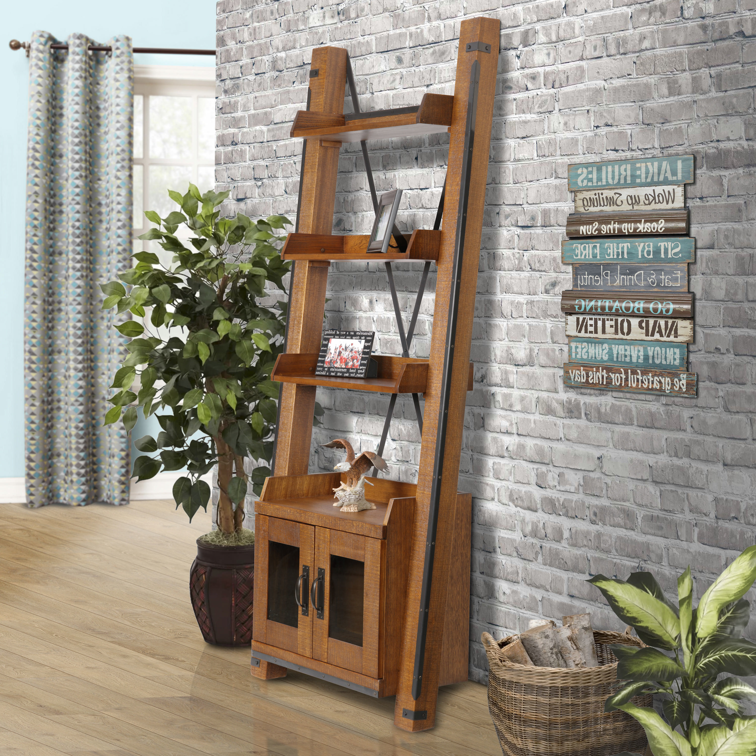 Leandra Ladder Bookcases In Best And Newest Leandra Ladder Bookcase (View 3 of 20)