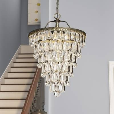 Lighting In 2019 Throughout Preferred Clea 3 Light Crystal Chandeliers (View 3 of 25)