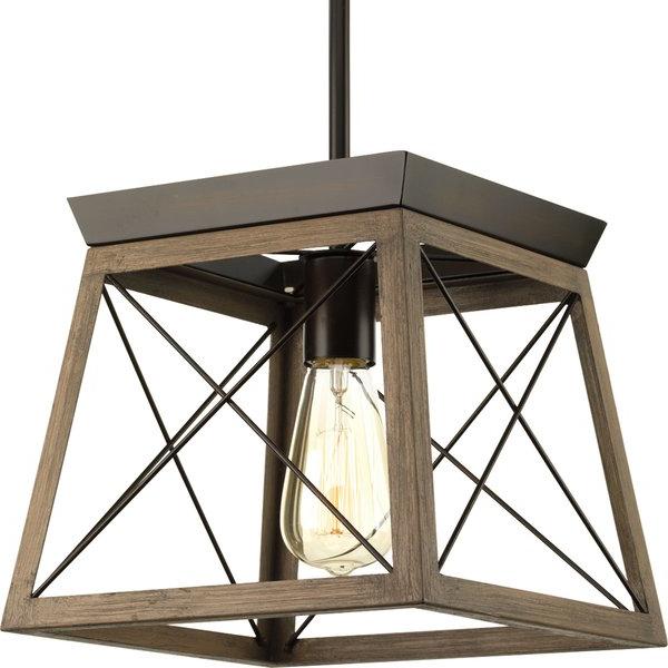 Louanne 1 Light Lantern Geometric Pendants Pertaining To Most Up To Date Delon 1 Light Lantern Geometric Pendant (View 13 of 25)
