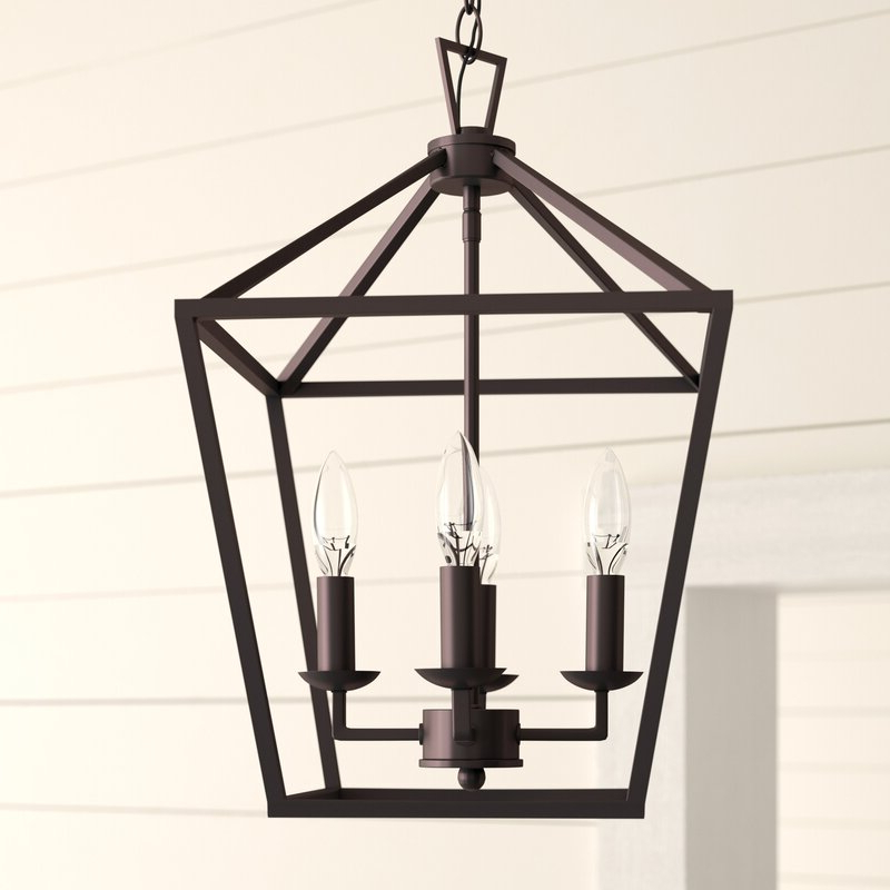 Louanne 3 Light Lantern Geometric Pendants Inside Recent Carmen 4 Light Lantern Geometric Pendant (View 17 of 25)