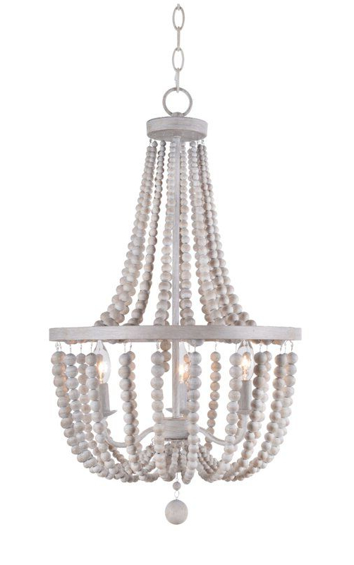 Louis Wood Bead 3 Light Empire Chandelier Throughout Most Recent Ladonna 5 Light Novelty Chandeliers (View 25 of 25)