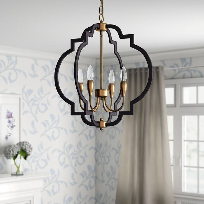 Lynn 6 Light Geometric Chandeliers Within Newest Astin 4 Light Geometric Chandelier (View 12 of 25)