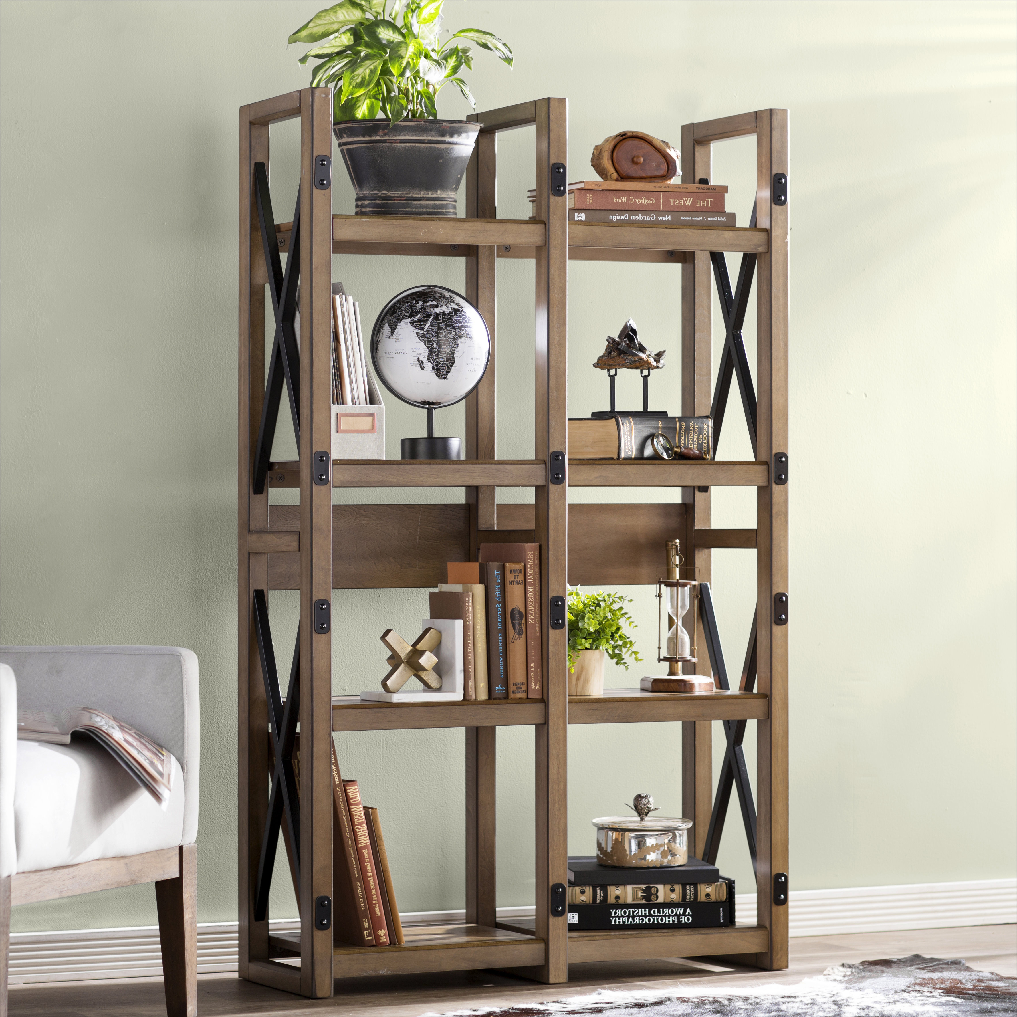 Macon Etagere Bookcases Inside Favorite Gladstone Etagere Bookcase (View 13 of 20)
