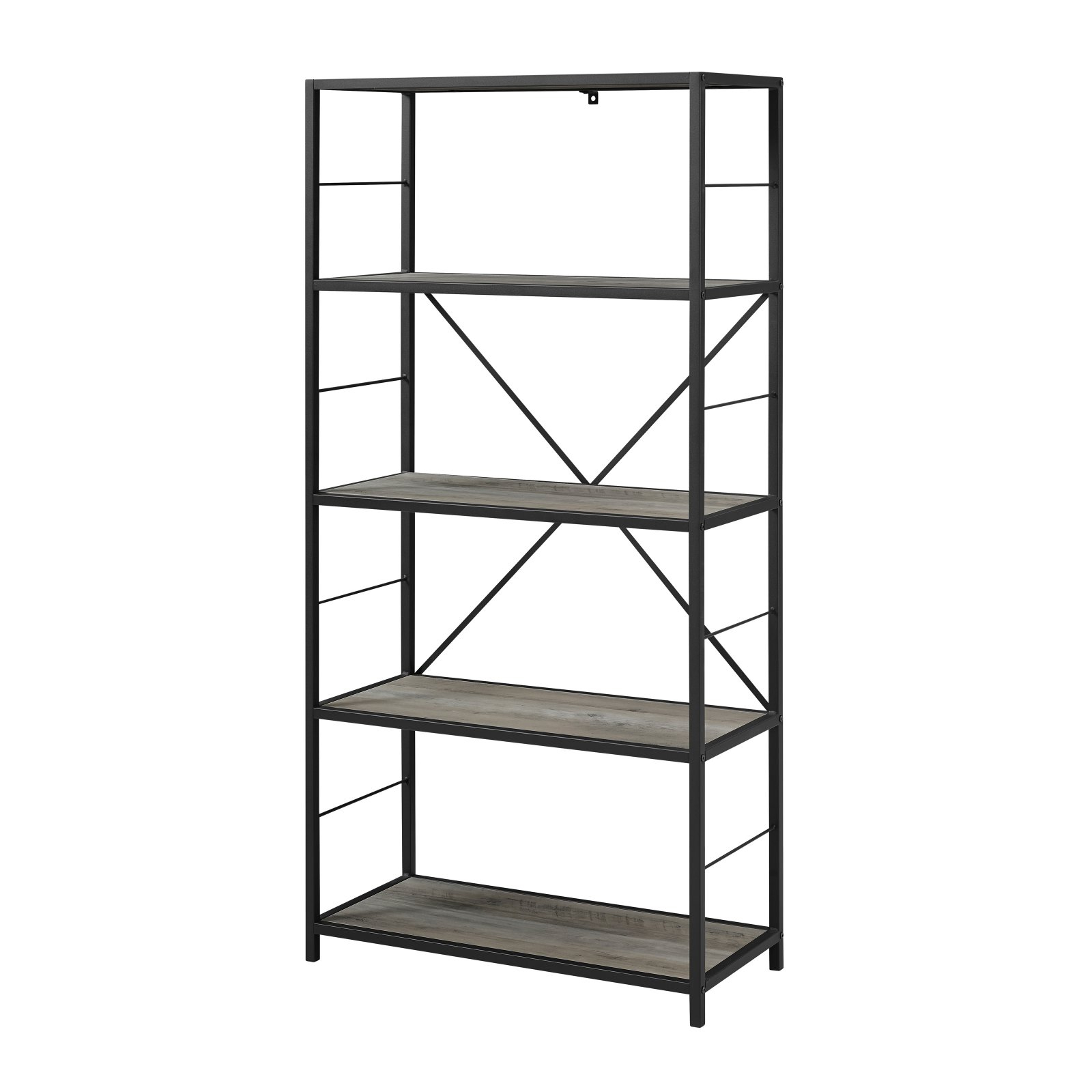 Macon Etagere Bookcases With Regard To Most Current Manor Park 5 Ft (View 16 of 20)