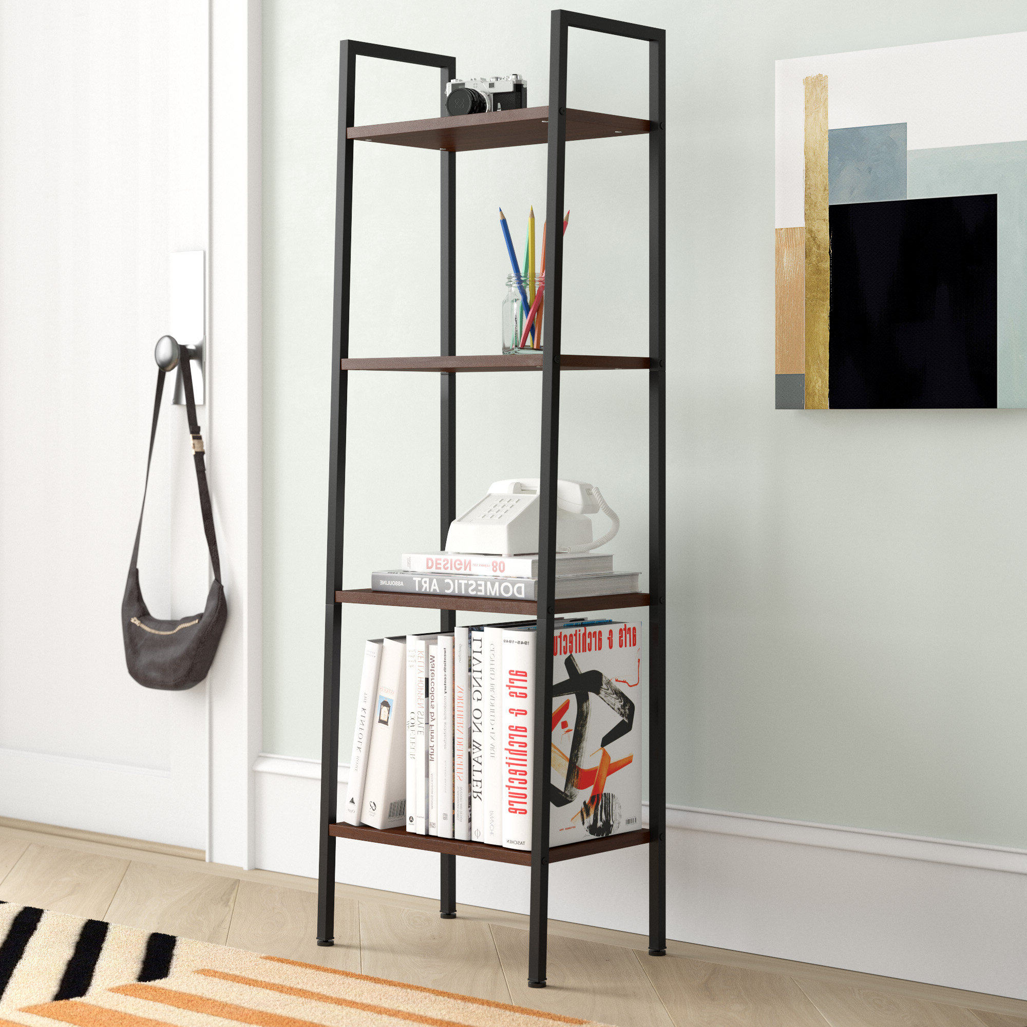 Macy Ladder Bookcase Within Most Current Moskowitz Ladder Bookcases (View 8 of 20)