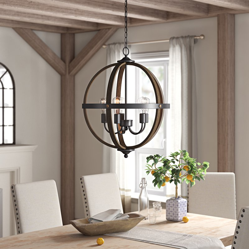 Makeba 5 Light Globe Chandelier With Regard To Newest Donna 4 Light Globe Chandeliers (View 14 of 25)