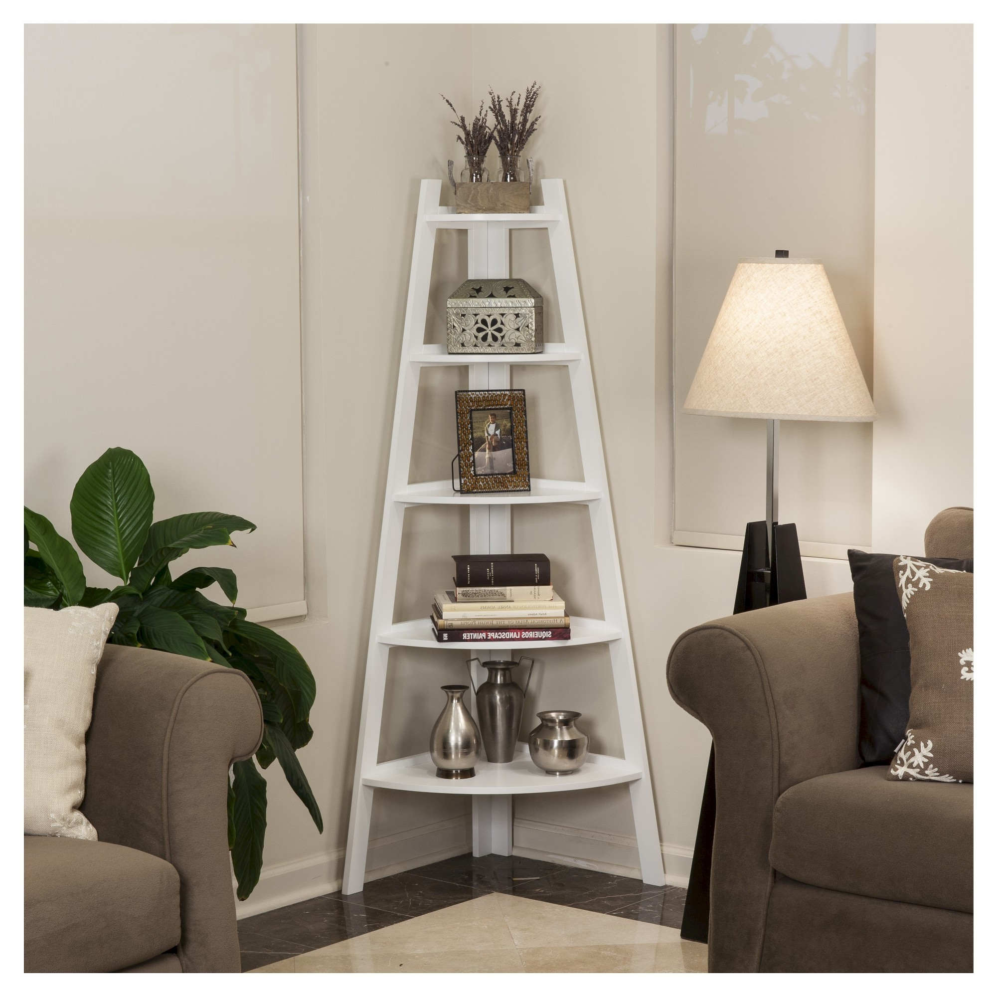 """Mari Wood Corner Bookcases With Regard To Well Known 63"""" X  (View 9 of 20)"""