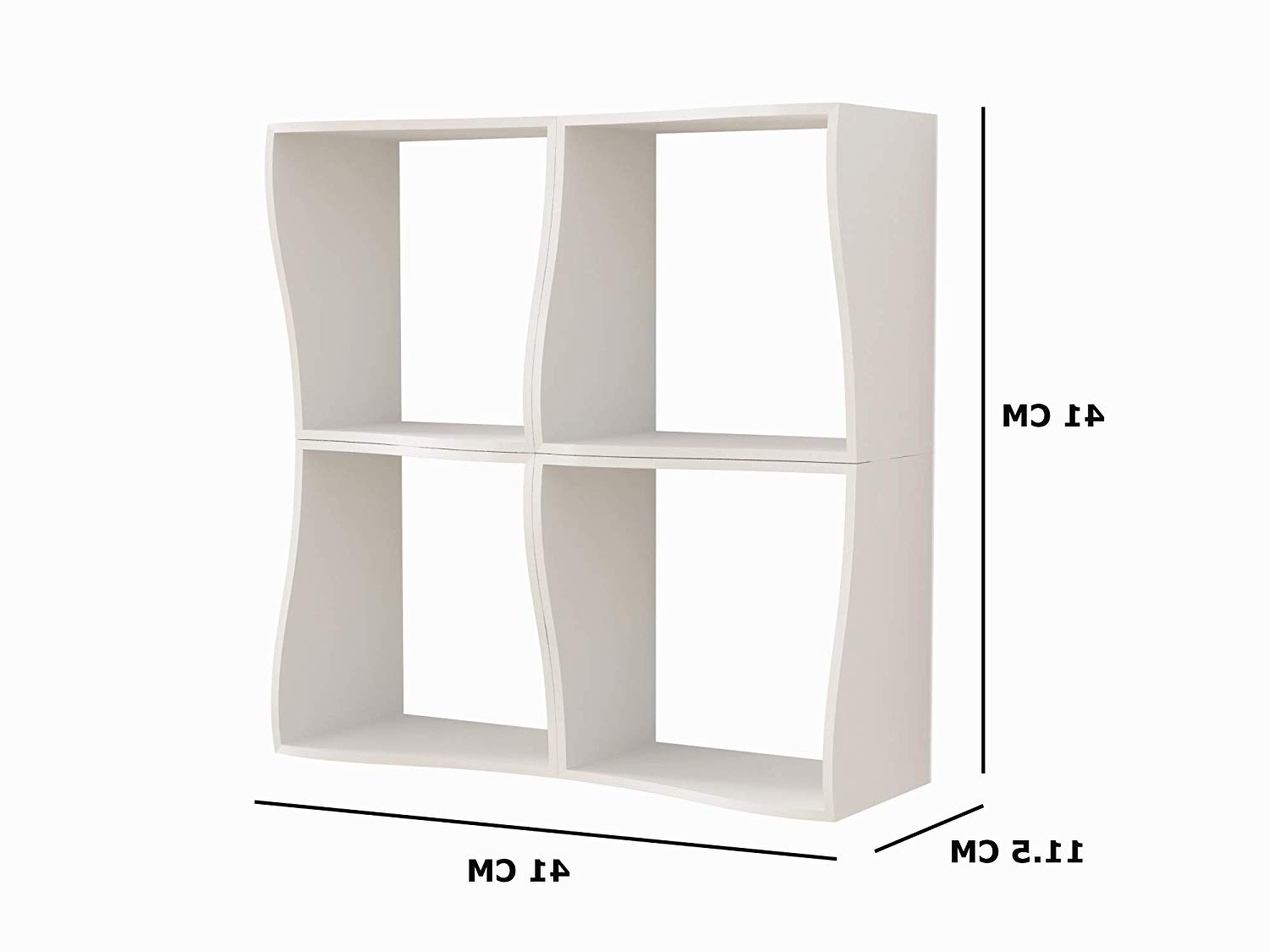 Maryln Standard Bookcases Throughout Most Recently Released Home Sparkle Wooden Wave Book Shelf (white) (View 15 of 20)
