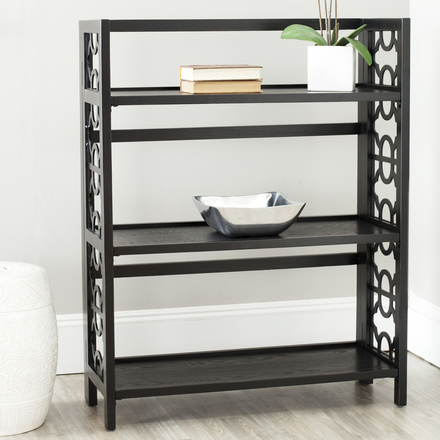 Mayna Ladder Bookcases For Most Recently Released Safavieh Ron  (View 8 of 20)