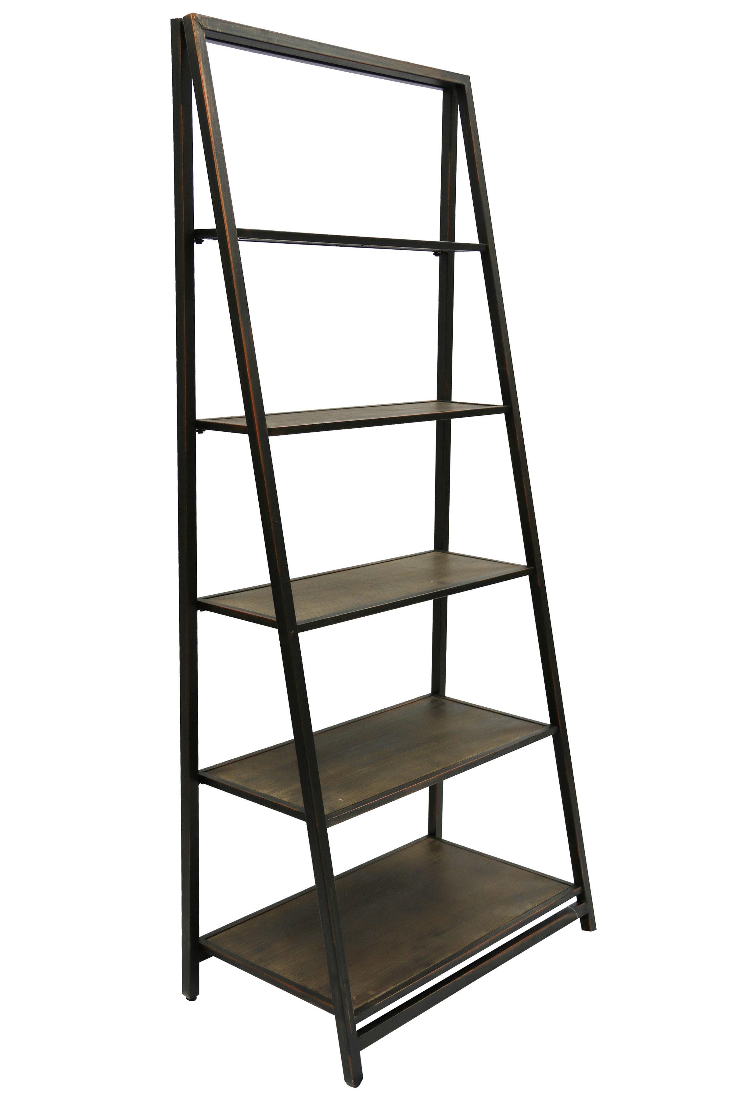 Mayna Ladder Bookcases Regarding Most Popular Walcott Ladder Bookcase (View 12 of 20)