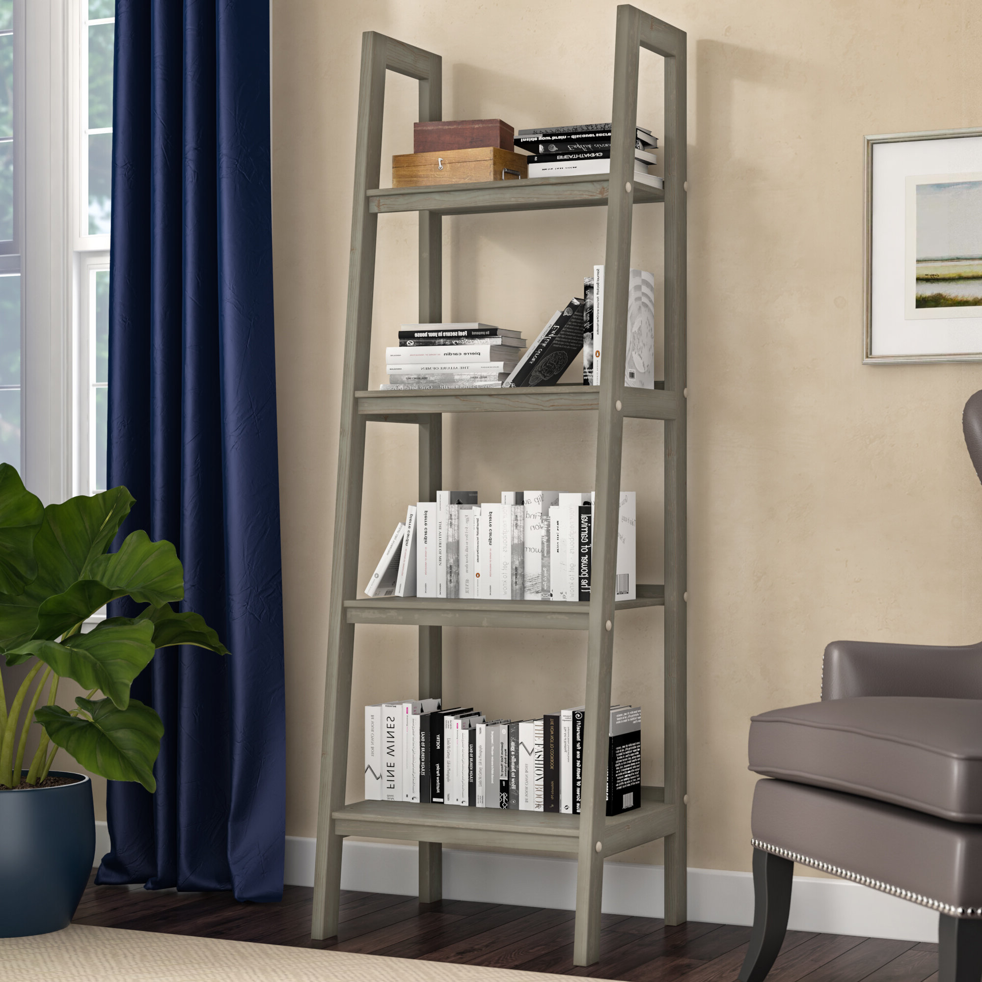 Mayna Ladder Bookcases With Most Current Ine Ladder Bookcase (View 14 of 20)