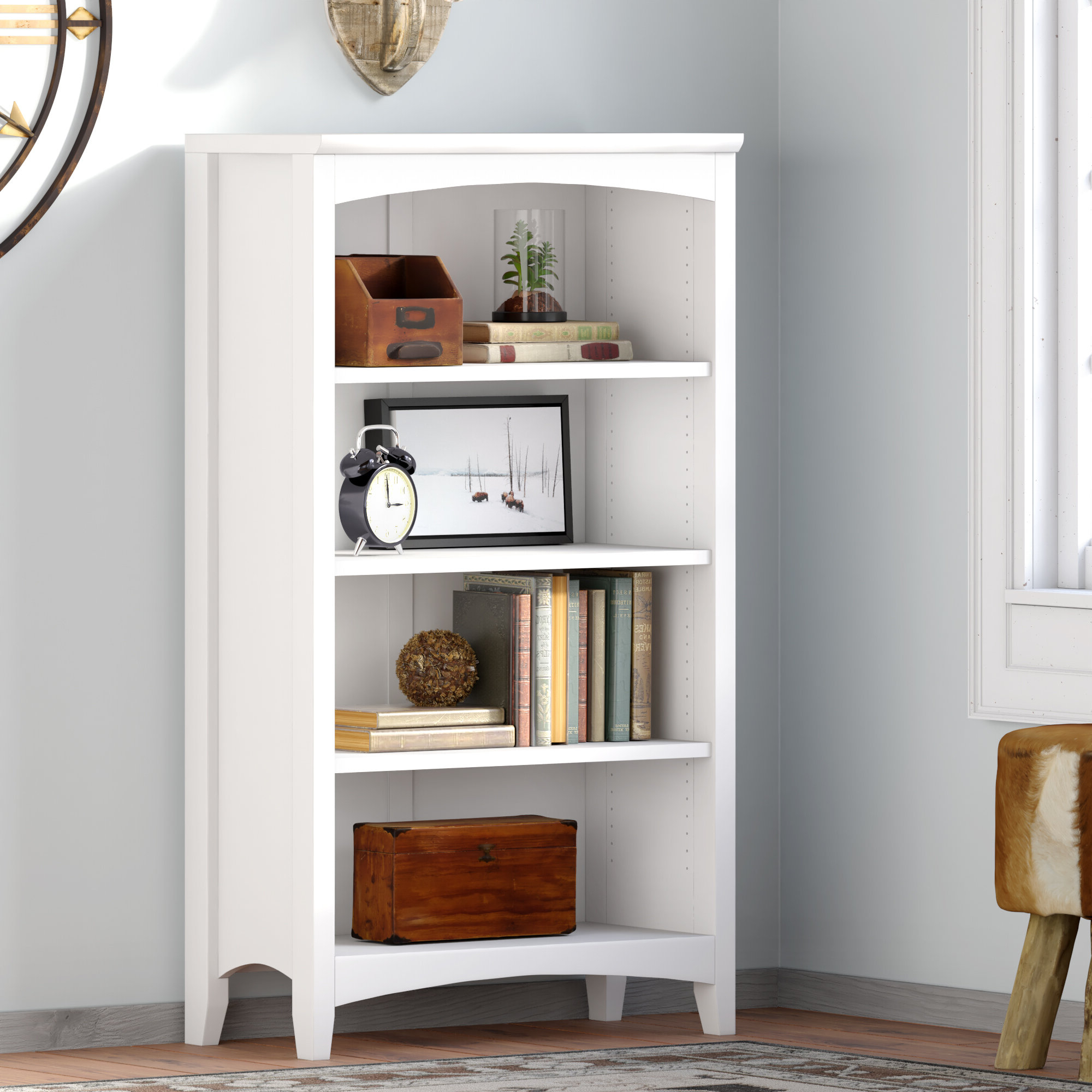 Mccrory Standard Bookcase With Best And Newest Myrasol Standard Bookcases (View 17 of 20)