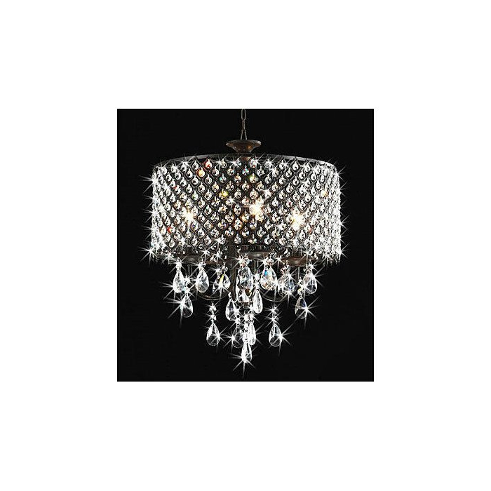 Mckamey 4 Light Crystal Chandelier Regarding Fashionable Mckamey 4 Light Crystal Chandeliers (View 3 of 25)