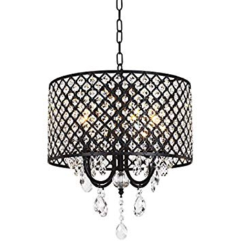 Mckamey 4 Light Crystal Chandeliers For 2018 Edvivi Marya 4 Lights Oil Rubbed Bronze Round Crystal (View 12 of 25)