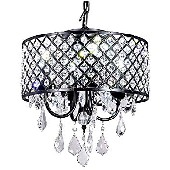 Mckamey 4 Light Crystal Chandeliers With Popular Edvivi Marya 4 Lights Oil Rubbed Bronze Round Crystal (View 20 of 25)