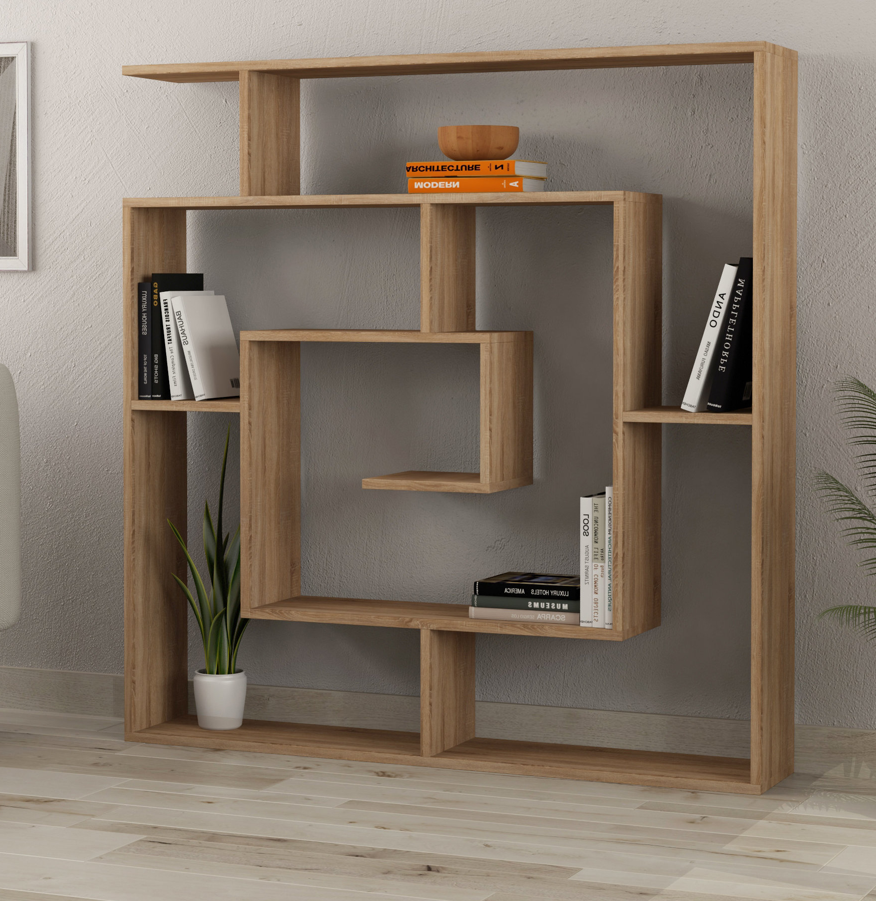 Mckibben Geometric Bookcase For Most Popular Mckibben Geometric Bookcases (View 4 of 20)