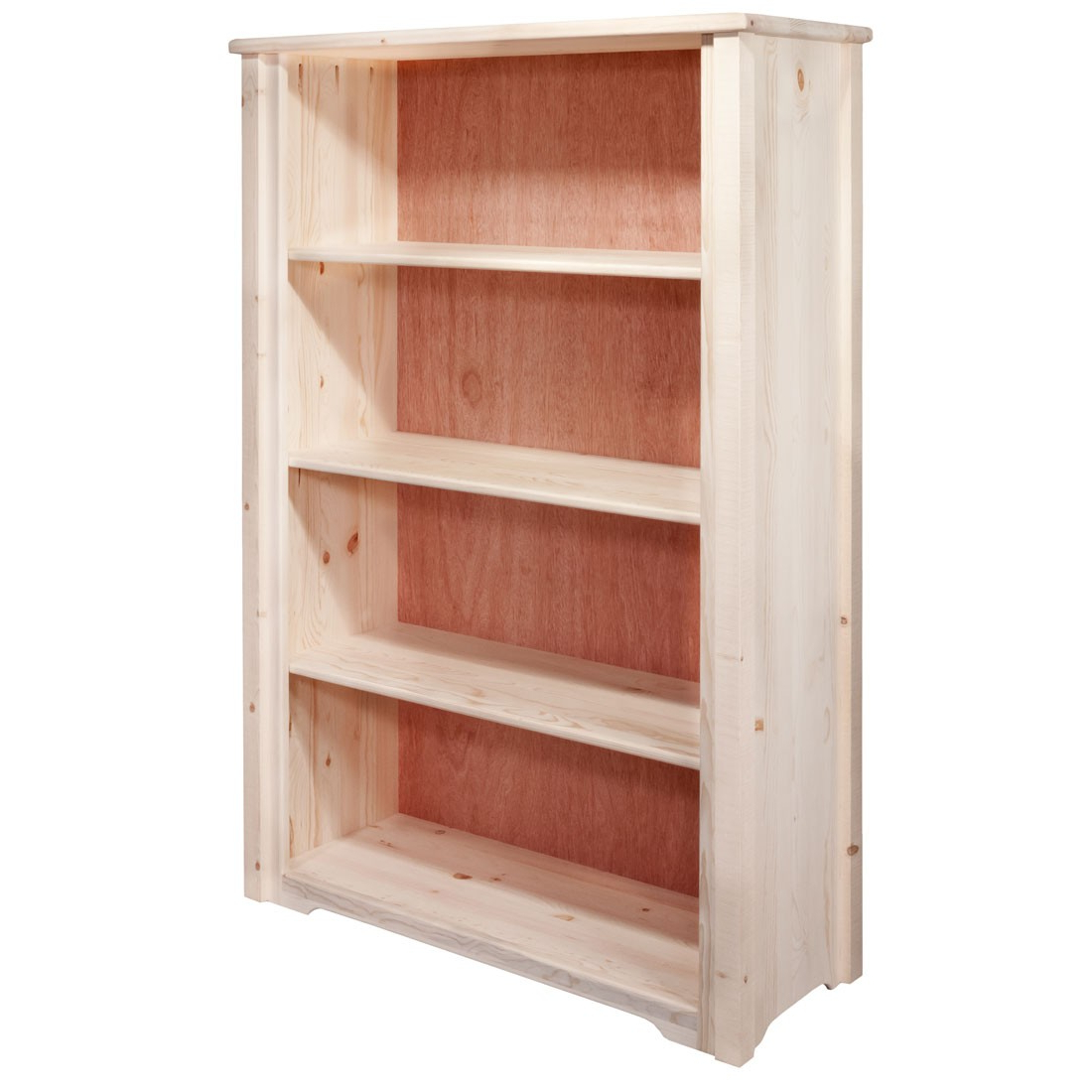 Meadows Square Cut Standard Bookshelf W/adjustable Shelves Within Famous Standard Bookcases (View 6 of 20)