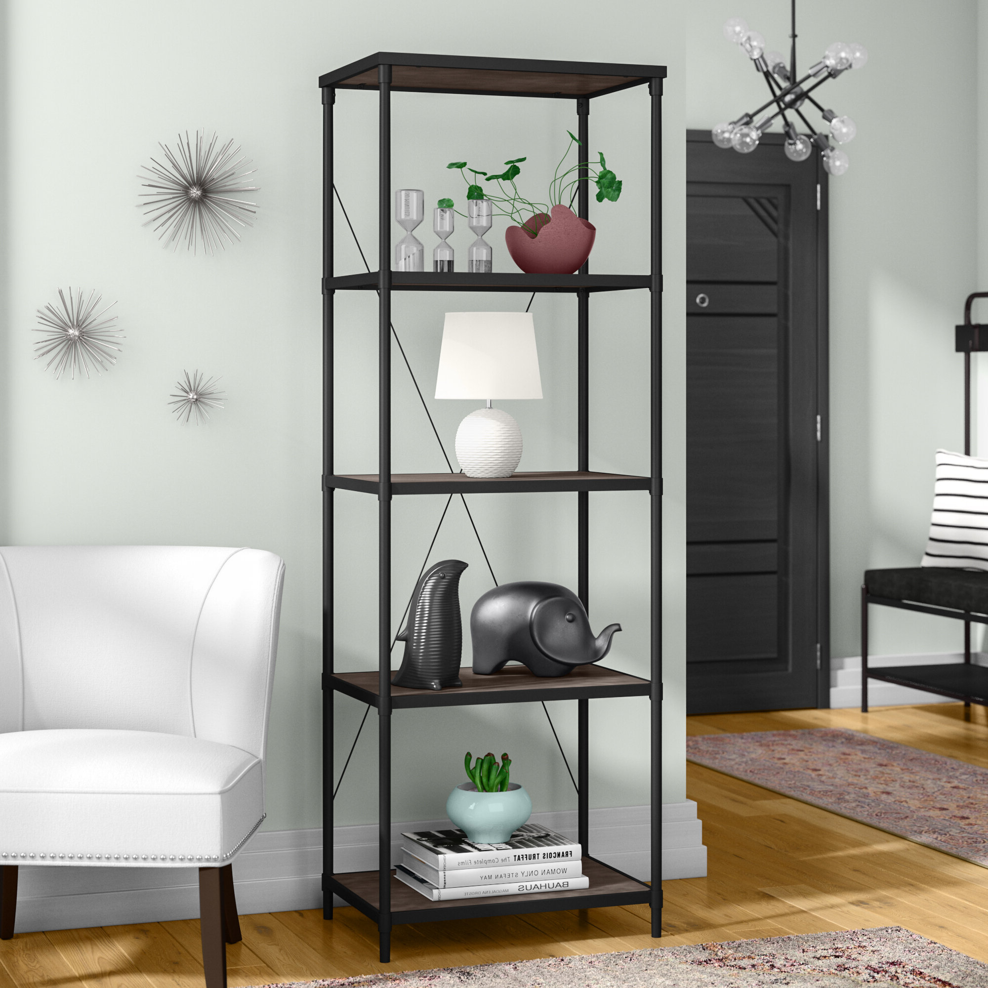 Mercury Row Hera Etagere Bookcase Intended For 2020 Hera Etagere Bookcases (View 3 of 20)