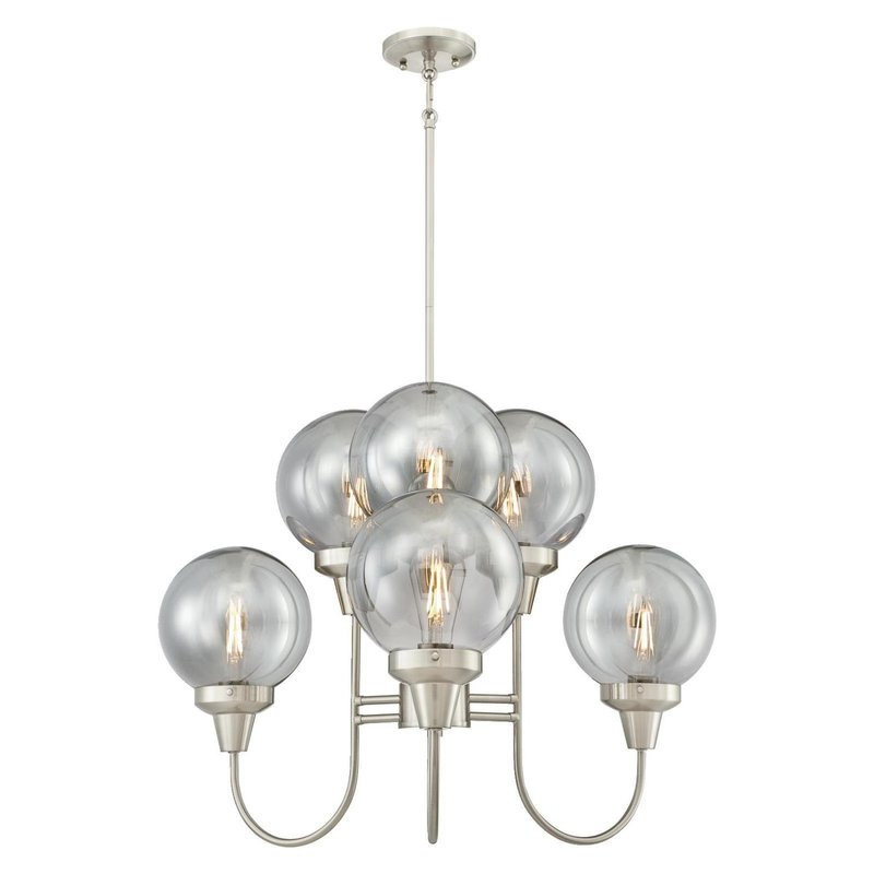 Millbrook 5 Light Shaded Chandeliers For Most Popular Tristin Indoor 6 Light Candle Style Chandelier (View 17 of 25)