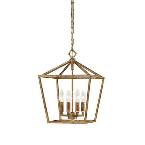 Millennium 3234 Vg Four Light Pendant, Gold, Champ, Gld Leaf With Well Known Varnum 4 Light Lantern Pendants (View 11 of 25)