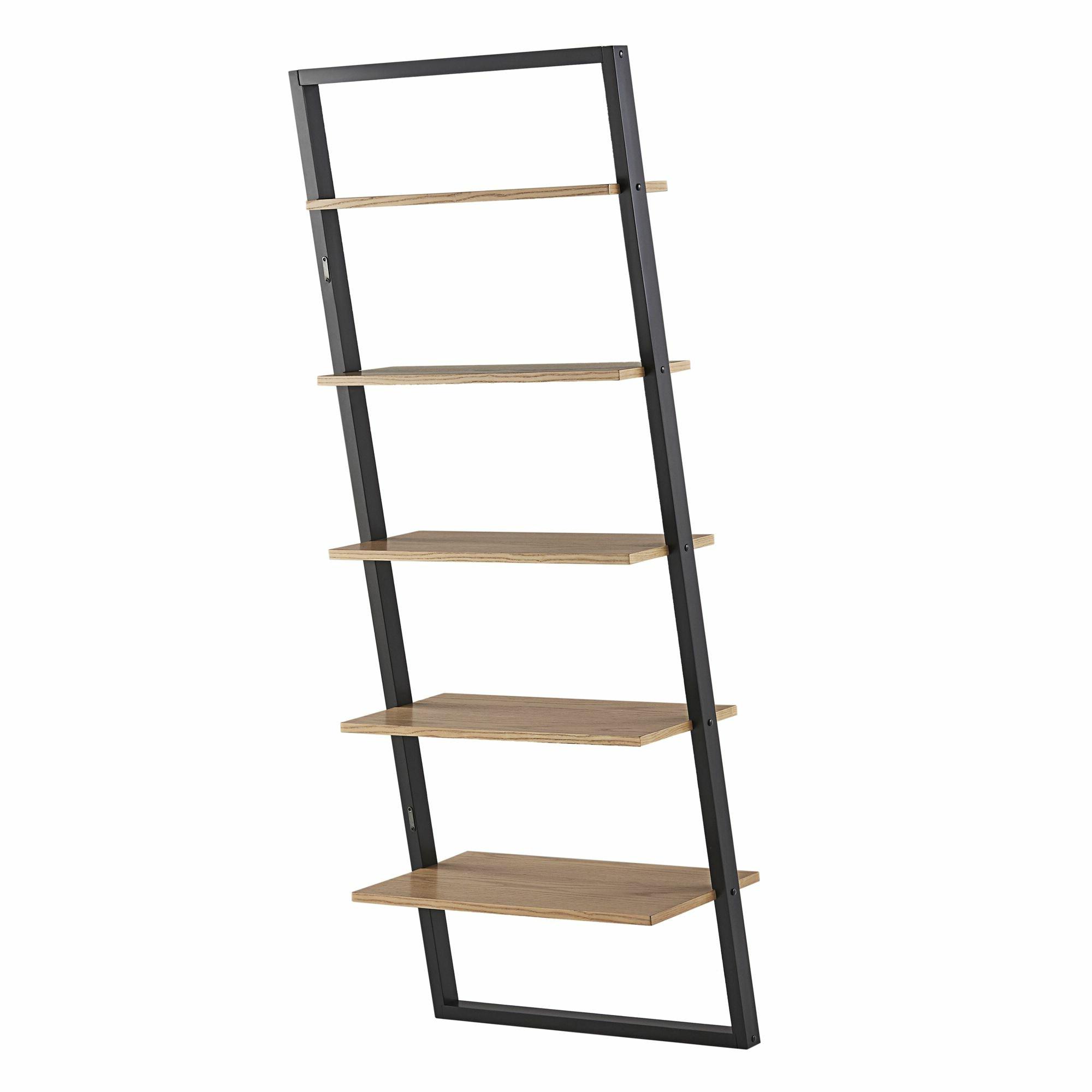 Modern & Contemporary Narrow Ladder Shelf (View 15 of 20)